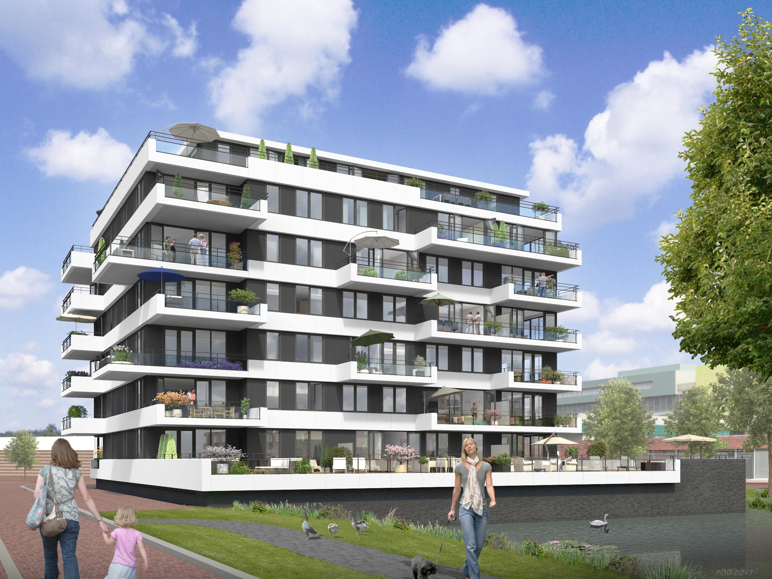Ontwikkelcombinatie 023 start verkoop 26 luxe appartementen in de hofmeester in de entree - Entree appartement ontwerp ...