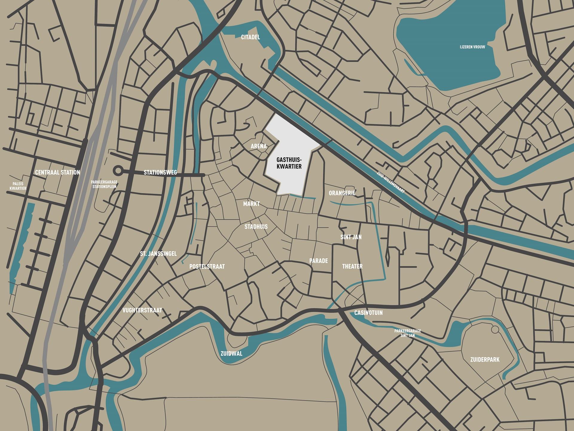 Kaart Den Bosch Bewerkt Uitgebreidlr Am Inspiring Space